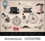 background with vintage elements | Shutterstock .eps vector #155565980