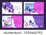 education website. cloud...   Shutterstock .eps vector #1555663793