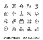 route line icons. gps...