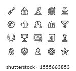 trophy line icon. quality...   Shutterstock .eps vector #1555663853