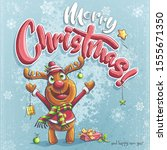 vector merry christmas...   Shutterstock .eps vector #1555671350