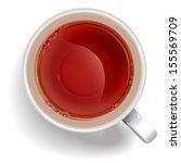 cup of black tea. illustration... | Shutterstock .eps vector #155569709