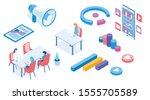 modern isometric vector... | Shutterstock .eps vector #1555705589