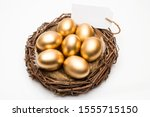 Nest With Golden Eggs With A...