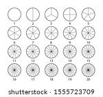 segmented circles set isolated... | Shutterstock .eps vector #1555723709