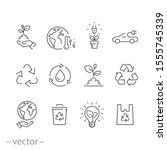 environment eco care icon set ... | Shutterstock .eps vector #1555745339