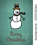 snowman design over green  background vector illustration