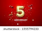 5th anniversary celebration.... | Shutterstock .eps vector #1555794233