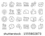ux line icons. set of ab... | Shutterstock .eps vector #1555802873