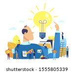 concept of a great idea or an...   Shutterstock .eps vector #1555805339