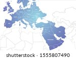 europe middle east countries... | Shutterstock .eps vector #1555807490