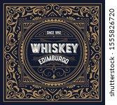 vintage label for packing.... | Shutterstock .eps vector #1555826720