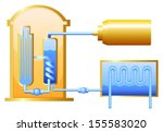 illustration of the nuclear... | Shutterstock .eps vector #155583020