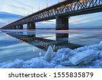 Ice Floating On The Amur River. ...