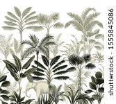 tropical vintage botanical... | Shutterstock .eps vector #1555845086