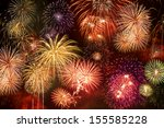 Brightly Colorful Fireworks In...