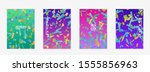 abstract flyer templates with... | Shutterstock .eps vector #1555856963