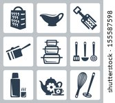 Vector Isolated Kitchenware...