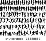 people in different situations | Shutterstock .eps vector #15558853