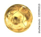 Golden Soccer Ball Isolated On...