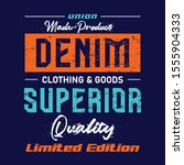 simple design denim  vector... | Shutterstock .eps vector #1555904333