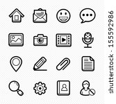 general website line icons on... | Shutterstock .eps vector #155592986