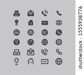 thin lines web icons set  ... | Shutterstock .eps vector #1555938776