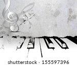 Grunge Music Background   Piano ...