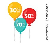 3 colorful flying balloons with ...
