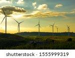 Wind Turbine Farm From Clean...