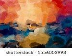 conceptual watercolour nails... | Shutterstock . vector #1556003993