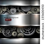 background metallic with... | Shutterstock .eps vector #155600450