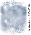 blue christmas background with... | Shutterstock .eps vector #155600516