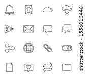 basic  ui line icons set....