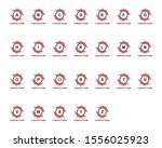 set of initial letter logo with ...   Shutterstock .eps vector #1556025923