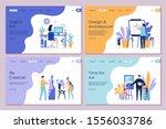 art work landing page.... | Shutterstock .eps vector #1556033786