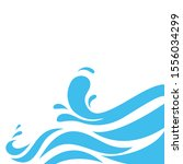 water wave logo abstract design.... | Shutterstock .eps vector #1556034299