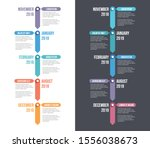 vertical timeline template with ... | Shutterstock .eps vector #1556038673