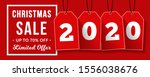 christmas sale banner with sale ... | Shutterstock .eps vector #1556038676