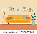 furniture  sofa  bookcase ... | Shutterstock .eps vector #1556057969