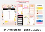 collection of weekly or daily... | Shutterstock .eps vector #1556066093