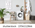 Interior Of Home Laundry Room...