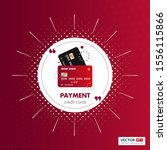 payment credit card red color...   Shutterstock .eps vector #1556115866