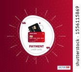 payment credit card red color...   Shutterstock .eps vector #1556115869