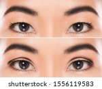 Close Up Of Female Eyes After...