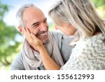 portrait of sweet 50 year old... | Shutterstock . vector #155612993