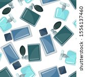 seamless pattern with perfume... | Shutterstock .eps vector #1556137460
