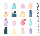 perfume icon set in flat style... | Shutterstock .eps vector #1556137466