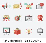 marketing icon set   Shutterstock .eps vector #155614946