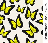 Drawing Butterflies. Stencil...